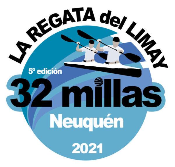 """32 MILLAS"" La Regata del Limay  logo"
